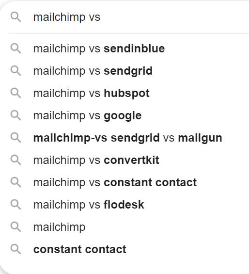 Mailchimp questions.