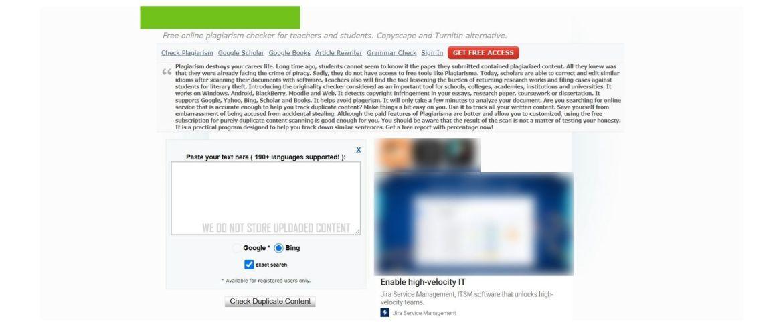 Plagiarism tool plagiarism checker.