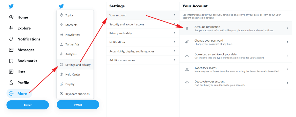 How to make your account private on Twitter.