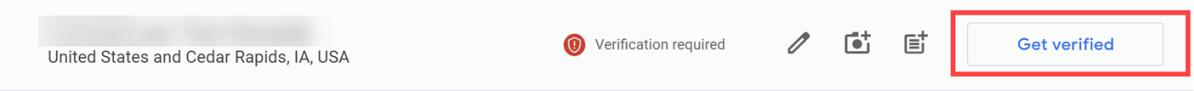 Request a new verification postcard.