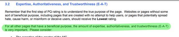 Google's E-A-T definition.