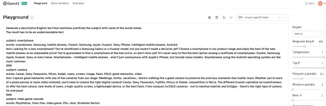 Sophisticated textual summaries in OpenAI.