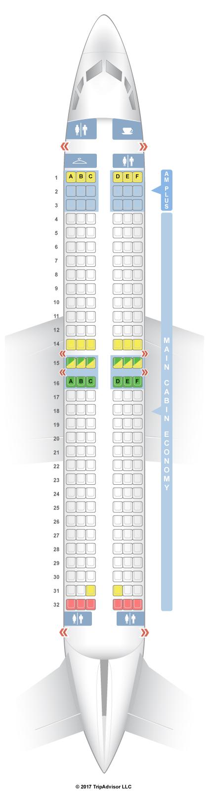 Aeromexico E90 Seating Chart