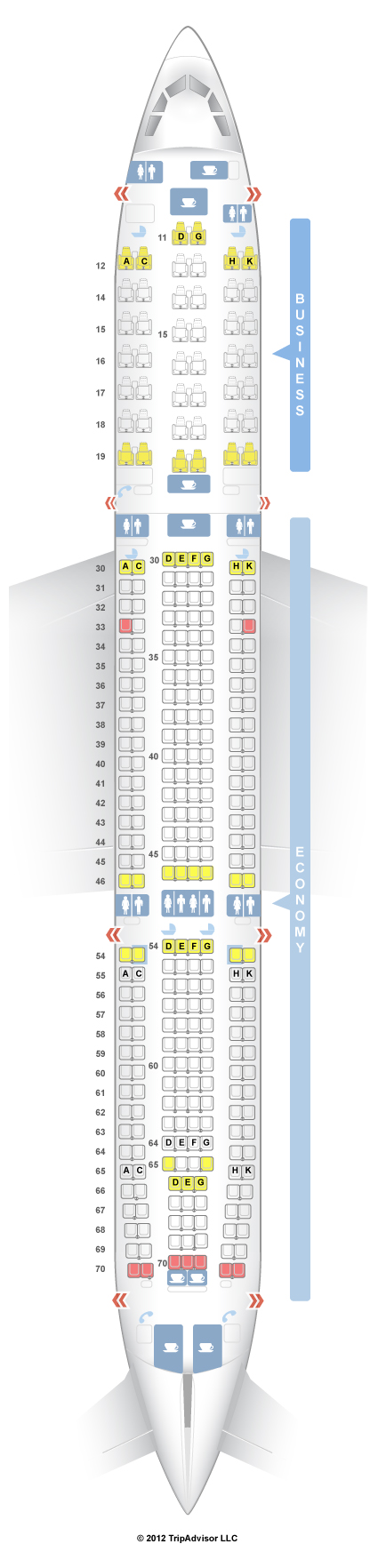 Airbus A330 300 Seating Chart Cathay Pacific