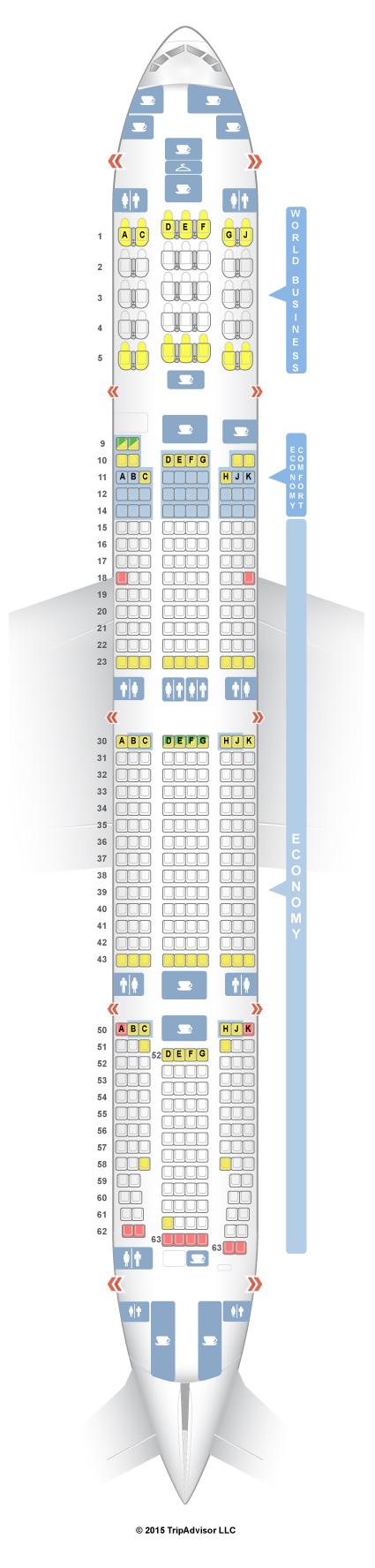 Seatguru Seat Map Klm Boeing 777 300er Brokeasshome Com