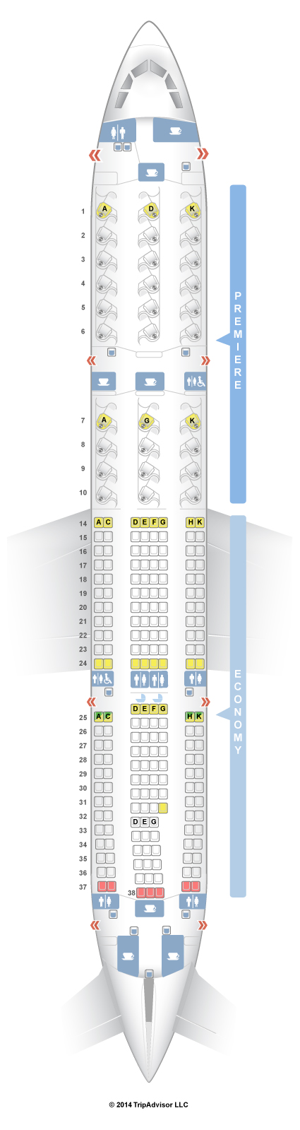 Boeing 737 900 Seating