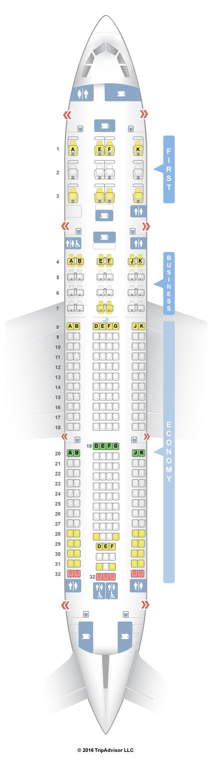 Seat Map Aa 77w