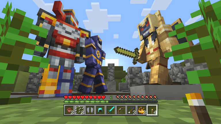 Mighty Morphin Power Rangers Minecraft Skin Pack Launches
