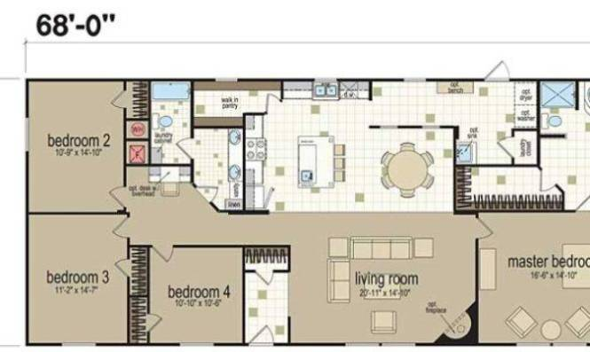 Champion Homes Double Wides South Texas Manufactured 25 Wonderful Wide Floor Plans 4 Bedroom