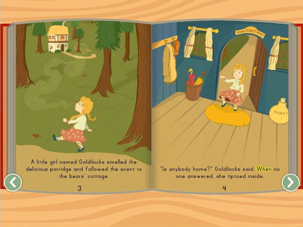 Goldilocks Three Bears Story Education