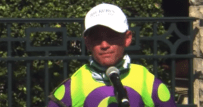 Javier Castelano after winning in Keeneland