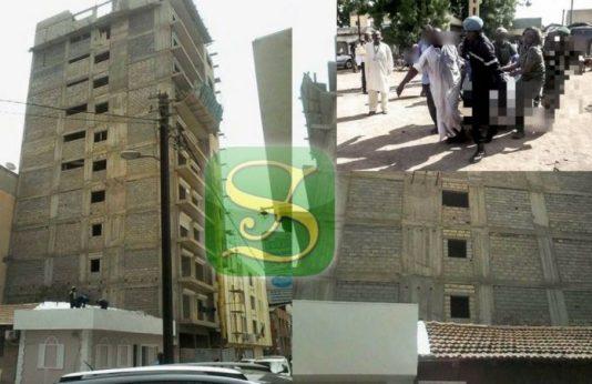 Drame: Immeuble en construction près de la Clinique Pasteur, un jeune ouvrier tombe du 8e étage et meurt