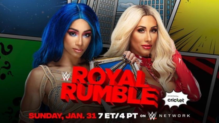 Updated Royal Rumble Match Card: Sasha Banks' Opponent Confirmed