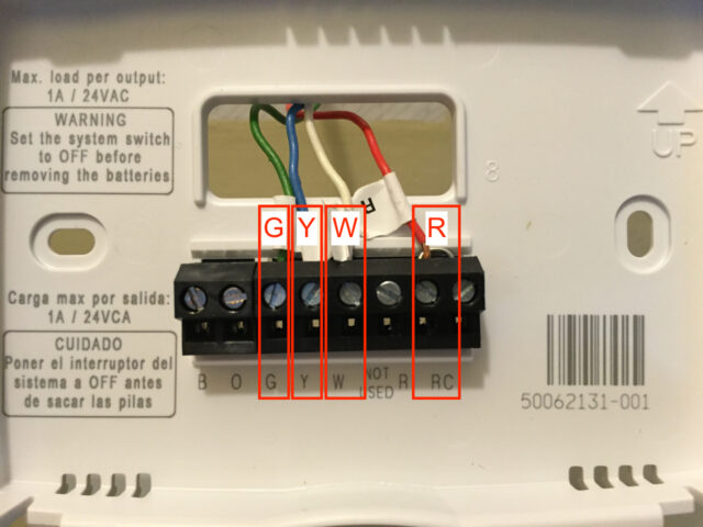 Honeywell Thermostat Thermostat Wires Connected 640x480 honeywell rth2510b wiring diagram honeywell thermostat t8411r honeywell rth7500 wiring diagram at gsmportal.co