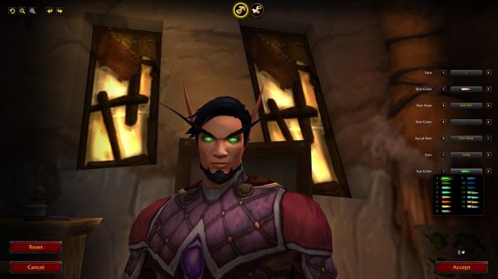 Детали нового экрана создания персонажа в World of Warcraft: Shadowlands