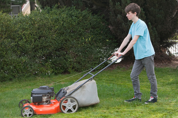 Image result for kids mow lawn