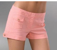 Theory pink linen shorts for summer fashion