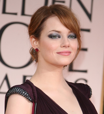 emma stone s golden globes hair
