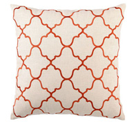 Moroccan-inspired embroidered pillow
