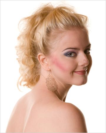 woman with bad makeup