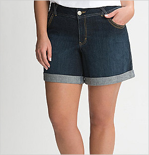 Cuffed Denim Shorts, Lane Bryant (Lane Bryant, $45)