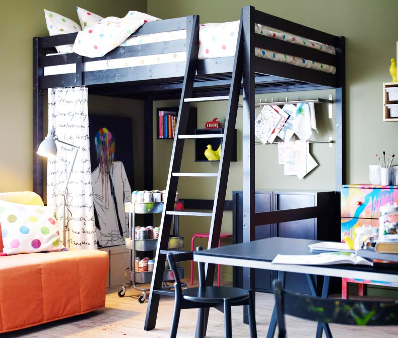 Ikea Loft Bed With Desk Home Decorating Ideas