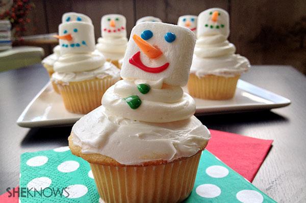 Marshmallow snowman cupcakes | Sheknows.ca