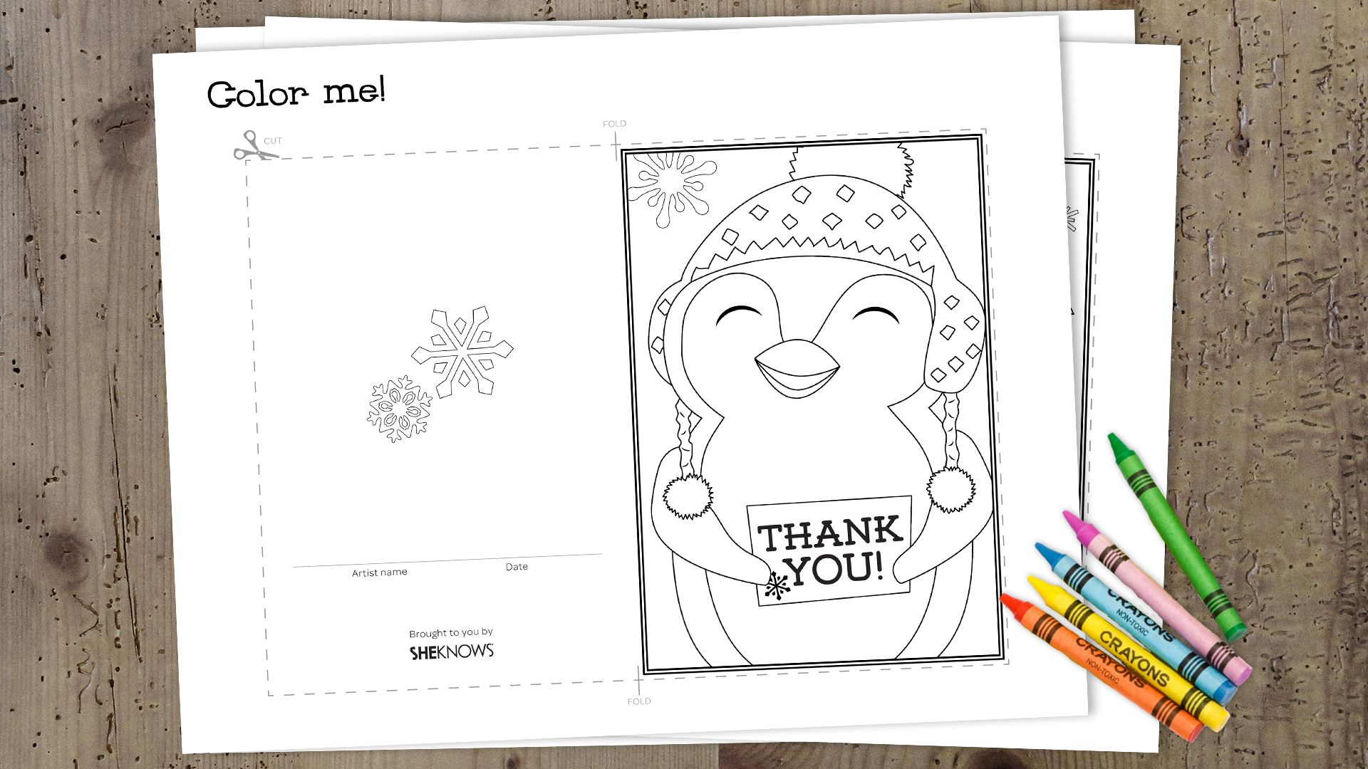 wrap up the holidays with these printable thank you cards for kids