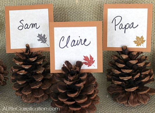 9 Adorable DIY Thanksgiving Place Settings For Kids