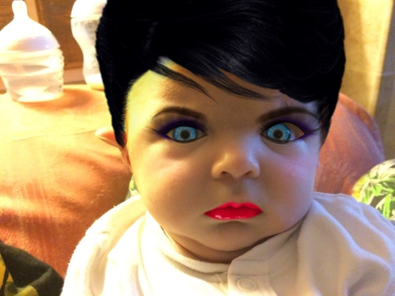 Baby With Makeup Eyebrows Makeupview