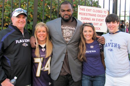 The Tuohy family in San Diego for gameday against the Chargers