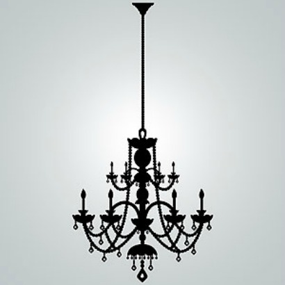 Rhinestone Chandelier Vinyl Wall Decal