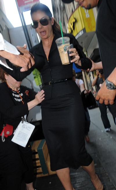 starbucks celebs - Sandra Bullock