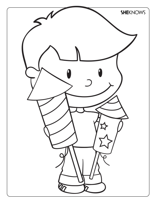 pin firecrackers colouring pages page 2 on pinterest