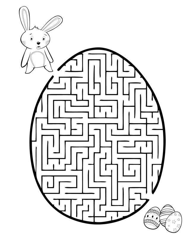 easy maze printable coloring pages coloring pages