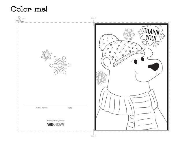 thank you cards colouring pages