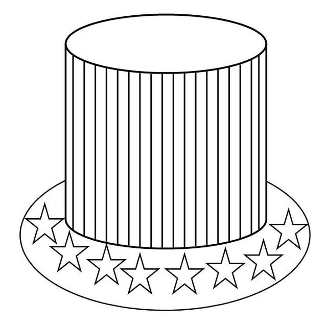american hat coloring page free printable coloring pages