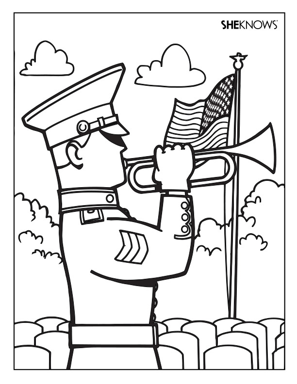 memorial day printable coloring pages