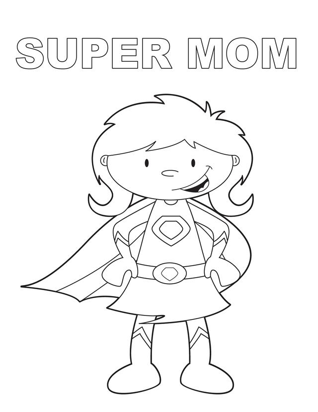 super mom free printable coloring pages