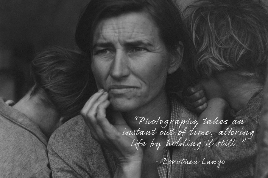 Image of: Famous People Famous Photography Quote From Dorothea Lange With An Image Of Womans Face And Her Childrens Jumia Uganda 165 Of The Best Photography Quotes From Top Photographers