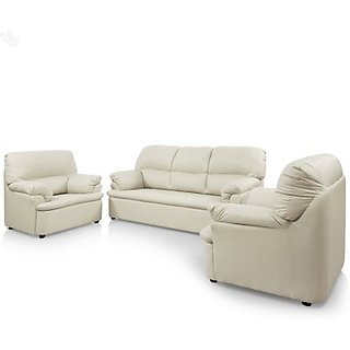 comfort couch leatherette 3 1 1 sofa set finish color cream configuration straight