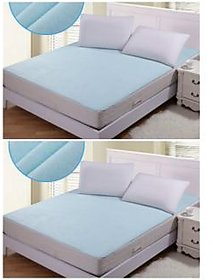 Luxmi Set Of 2 Non Woven Fabric Waterproof Double Bed M
