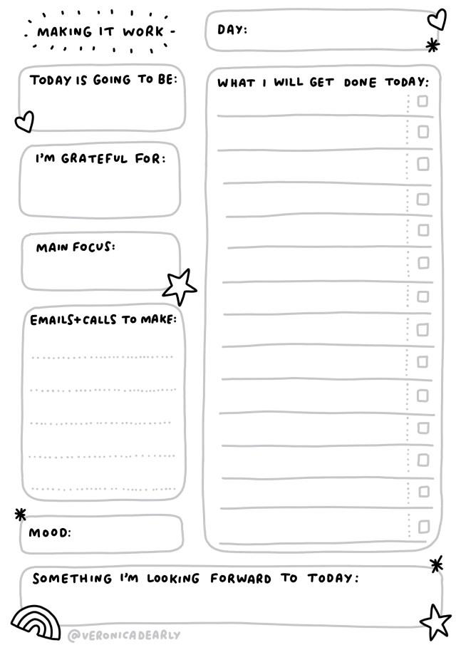 organizing work tasks
