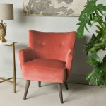 Vintage Style Coral Armchair Mrs Robinson