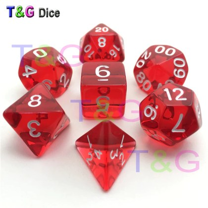 Wholesale Plastic Poly Clear Dice 7pcs lot D4 D6 D8 D10 D12 D20 DnD         Wholesale Plastic Poly Clear Dice 7pcs lot D4 D6 D8 D10 D12 D20 DnD Game