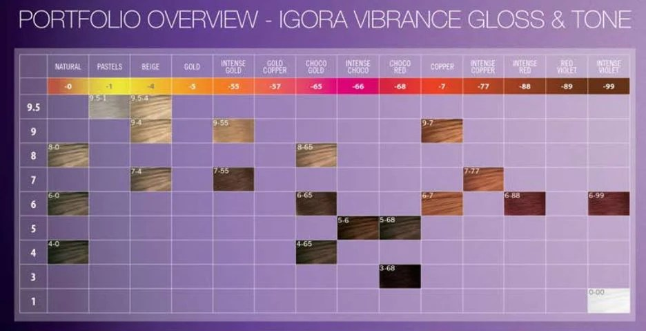 Schwarzkopf Igora Absolute Hair Color Chart Hairstly