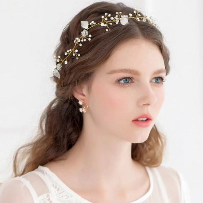 jd012 leaf crystal bridal headpiece