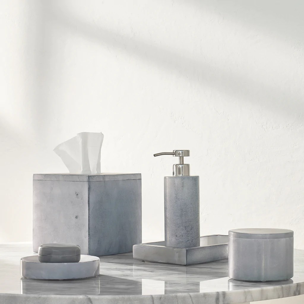 Alabaster Grey Bath Accessories Kassatex
