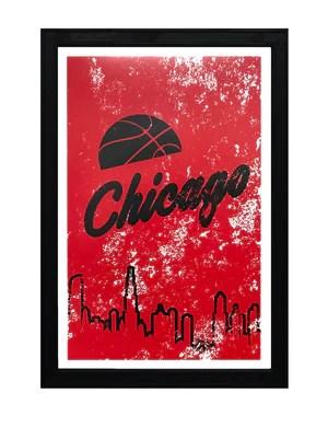 vintage chicago bulls poster art print 13x19