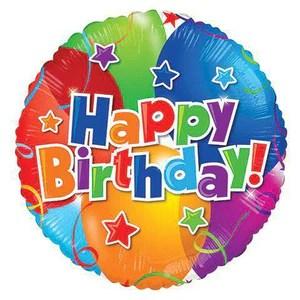 Happy Birthday Mylar Foil Balloons Sku 102 Cupcakedropoff Com